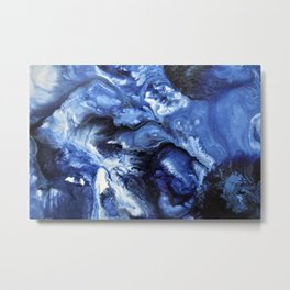 Swirling Blue Waters II - Painting Metal Print