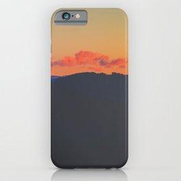 Light Orange Sunset Sky Mountains Landscape Silhouette iPhone Case