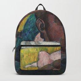 Émile Bernard - Autoportrait au tableau « Baigneuses a la vache rouge » Backpack