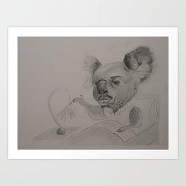 Koala Man Illustration Art Print