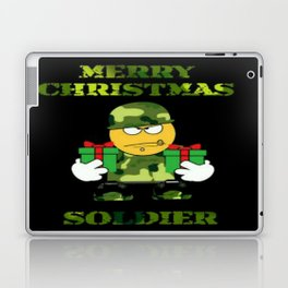 Merry Christmas emoji soldier Laptop & iPad Skin