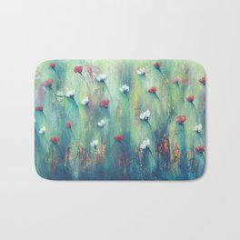 Dancing Field of Flowers Bath Mat