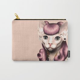 Ramona The Cat - Background Color: Nude Carry-All Pouch