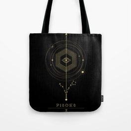 Pisces Zodiac Constellation Tote Bag