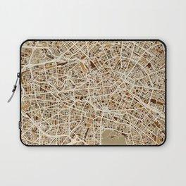 Berlin Germany Street Map Laptop Sleeve