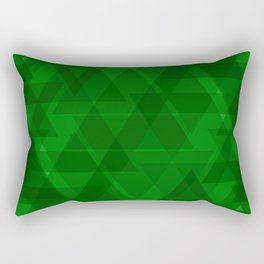 Bright green triangles in intersection and overlay. Rectangular Pillow