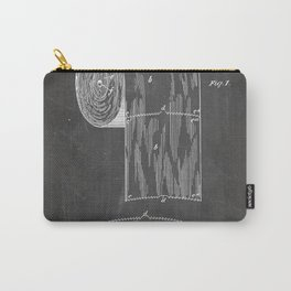 Toilet Paper Patent - Bathroom Art - Black Chalkboard Carry-All Pouch