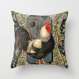 Provencal cock Throw Pillow