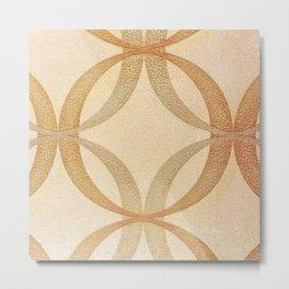 Circles Round Geometric Abstract Pattern Metal Print