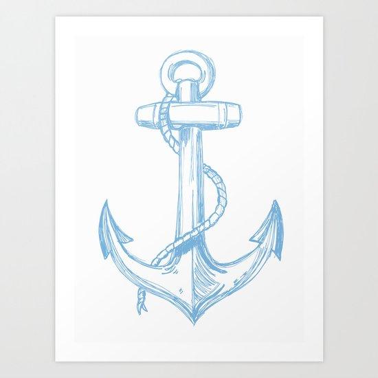 Its Like An Anchor... Art Print