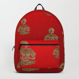 buddha in red Backpack