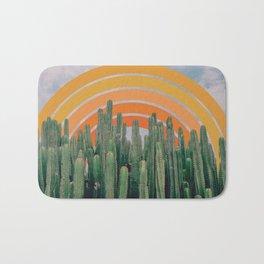 Cactus and Rainbow Bath Mat