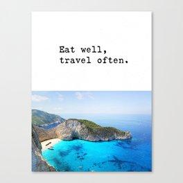 Eat well Island Canvas Print