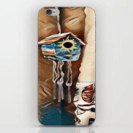 """ Birdhouse Wind Chime "" iPhone Skin"