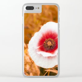 Summer Poppy Clear iPhone Case