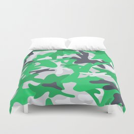 Camouflage military background. Duvet Cover