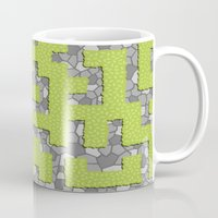 labyrinth Mugs featuring Labyrinth by wrkdesigns