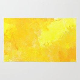 yellow watercolor Rug