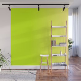 Fluorescent Yellow - Green Neon Ombre color Wall Mural