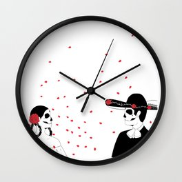 Eterno Amor Wall Clock