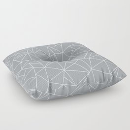 Abstraction Outline Grey Floor Pillow