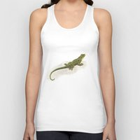 lizard Tank Tops featuring Lizard by Michelle Behar