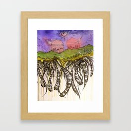 Another day on the floating island Framed Art Print