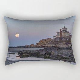 Full moon at Good Harbor Beach Rectangular Pillow