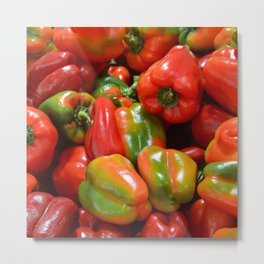 Peppers Photo Metal Print