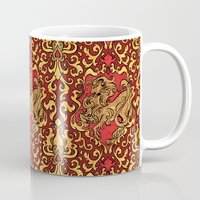 gryffindor Mugs featuring Gryffindor by Cryptovolans