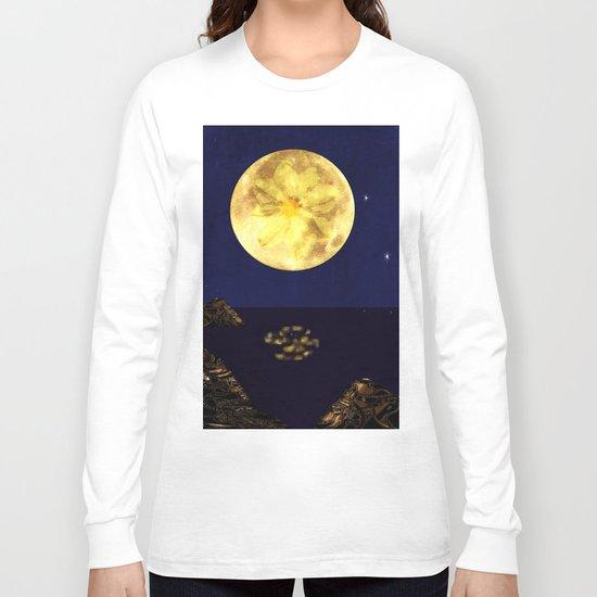 Yellow Dahlia Moon Long Sleeve T-shirt