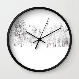 Trees in Winter Vignette | Prospect Landscape | Nadia Bonello | Canada Wall Clock