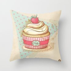 my Vintage Cupcake Throw Pillow