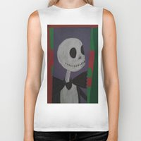 nightmare before christmas Biker Tanks featuring JACK SKELLINGTON/NIGHTMARE BEFORE CHRISTMAS by Kathead Tarot/David Rivera