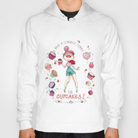 cupcakes Hoodies featuring Cupcakes by Meldoodles
