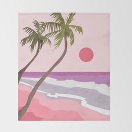 Tropical Landscape 01 Throw Blanket