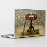 cheese Laptop & iPad Skins featuring Cheese by Anna Shell