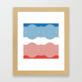 Red & Blue Framed Art Print