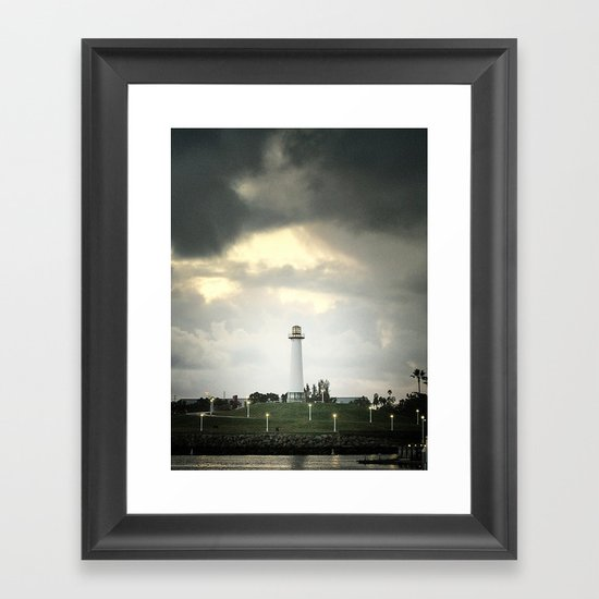 Lions Lighthouse ~ Stand By Framed Art Print