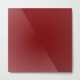 Sangria Red Scales Pattern Design Metal Print