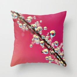 Smoking Pink Drops II Throw Pillow