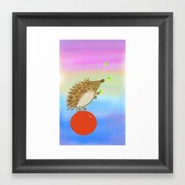 Circus Hedgehog Framed Art Print