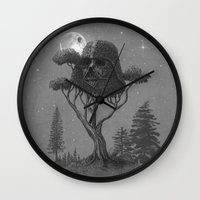 forest Wall Clocks featuring Dark Side of The Forest  by Terry Fan