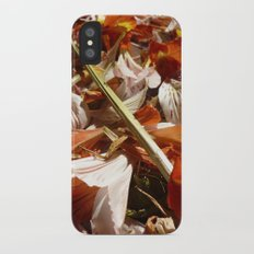 Flowers on a table  Slim Case iPhone X
