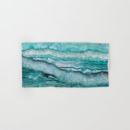 Mystic Stone Aqua Teal Hand & Bath Towel
