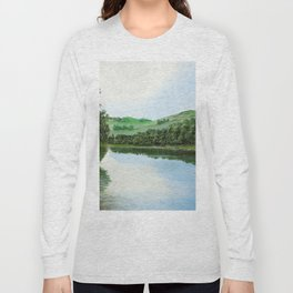 non-mirrored mountains Long Sleeve T-shirt