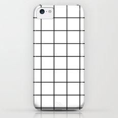 White Grid Slim Case iPhone 5c