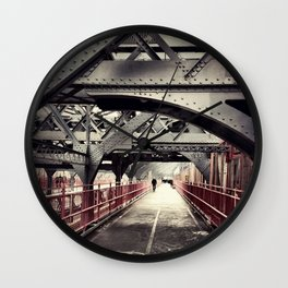 New York City Williamsburg Bridge Wall Clock