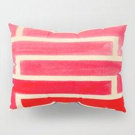 Geometric Pattern Watercolor Painting Pillow Sham