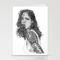 tattoos Stationery Cards featuring Lust & Tattoos by Art & Ink